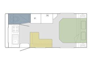 1760 FRONT KITCHEN SHOWER TOILET Layout