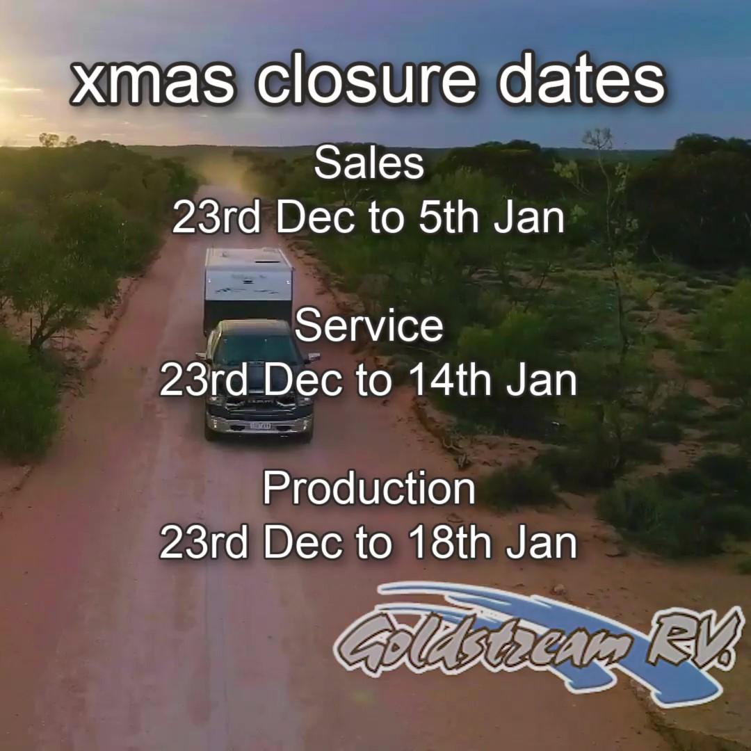 Goldstream Christmas Dates